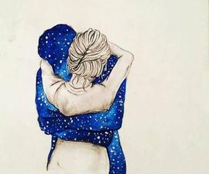 love, drawing, and hug image