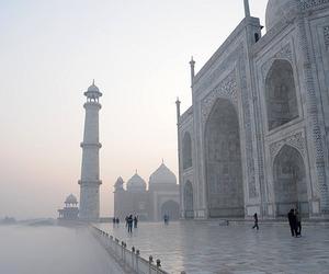 white, place, and taj mahal image
