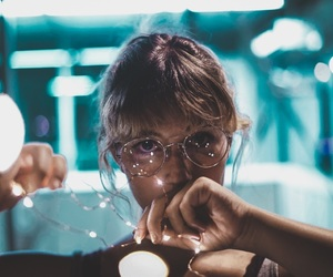girl, lights, and brandon woelfel image