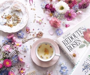 creativity, flatlay, and flowers image