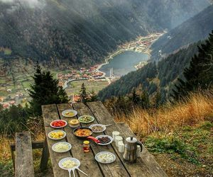 nature, mountains, and food image