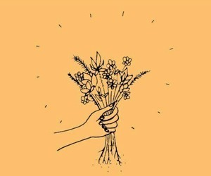 flowers, yellow, and tumblr image