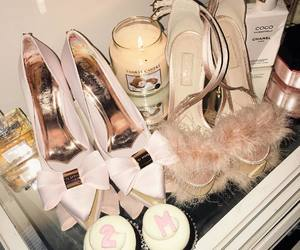 pink, girly, and heels image
