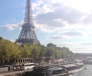 boats, eiffel tower, and paris image
