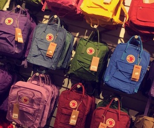 backpack, colorful, and fashion image