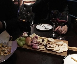 food, wine, and black image
