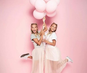 pink, girls, and twins image