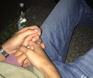 boy, couple, and holding hands image