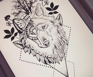 drawing, sketch, and tattoo image