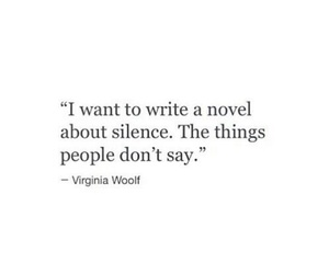 quotes, silence, and novel image
