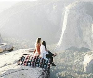 travel, friends, and mountains image
