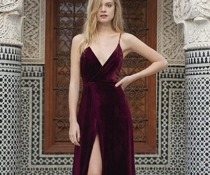 burgundy, day, and dress image