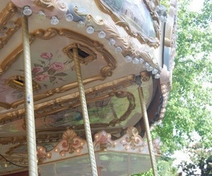 carousel, pale, and pastel image