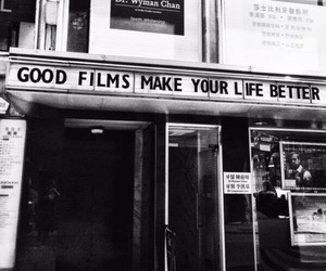 black and white, film, and life image