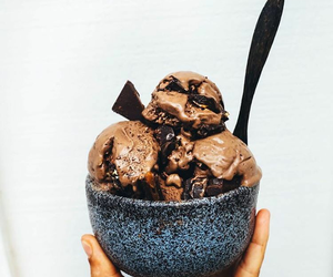 food, chocolate, and ice cream image