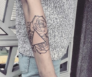 ink, linework, and rose image