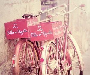 image, pink, and bicyclette image