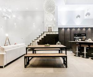 apartment, black, and design image