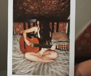 girl, guitare, and longhair image