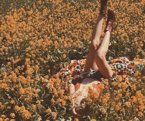 aesthetic, laying, and nature image