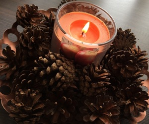 autumn, candle, and diy image
