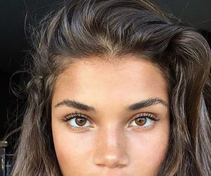 girl, beauty, and brown eyes image