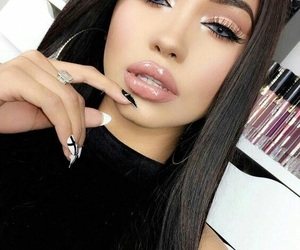 makeup, fashion, and nails image