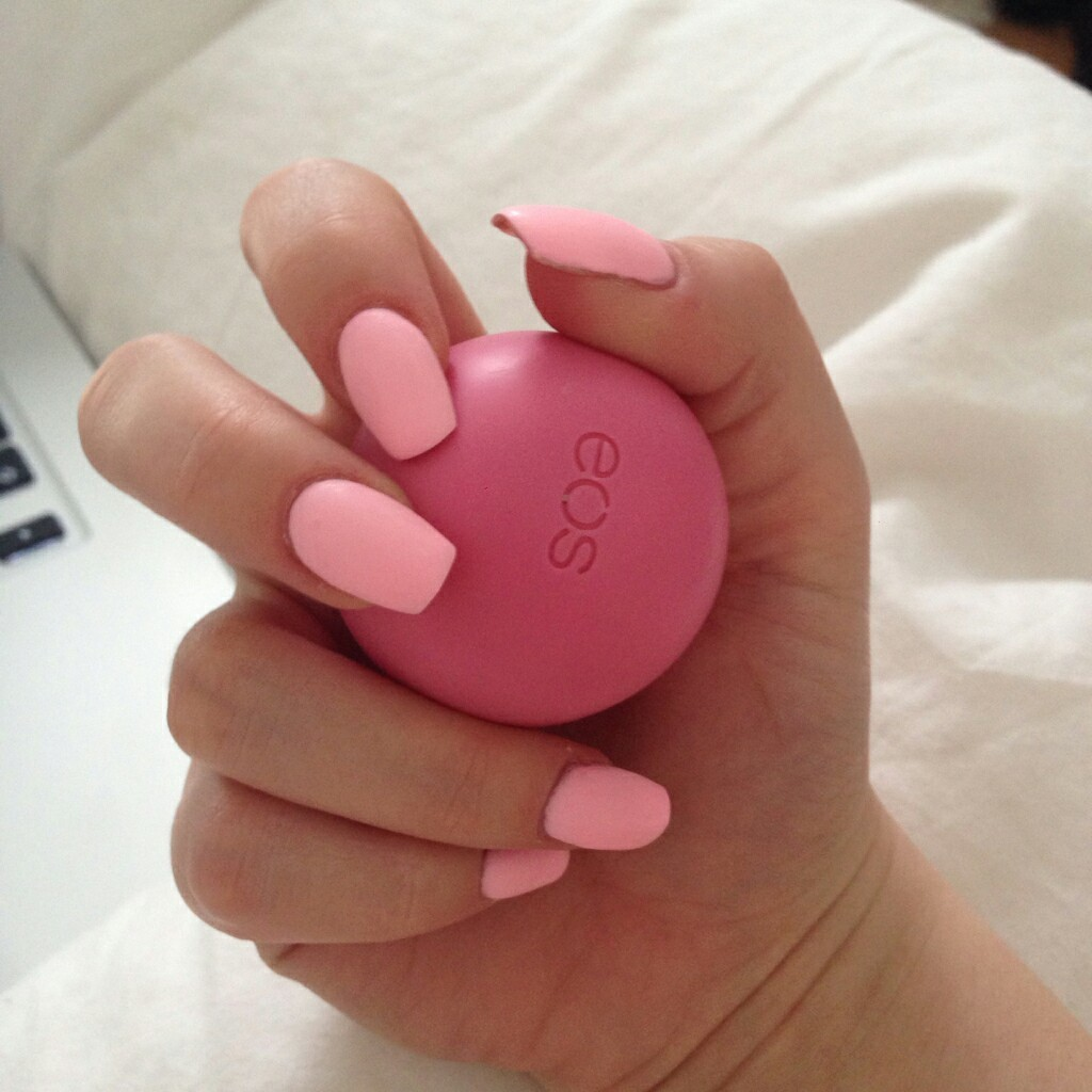 pink, eos, and nails image