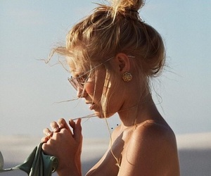 girl, summer, and beauty image