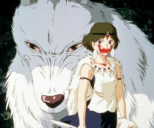 anime, ghibli, and princess mononoke image