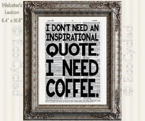 coffee art, etsy, and motivational quote image