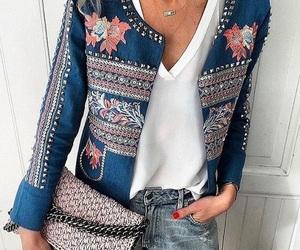 blue, fashion, and jacket image