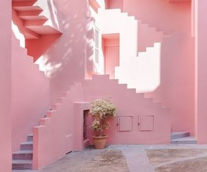 architecture, stairs, and pastel image