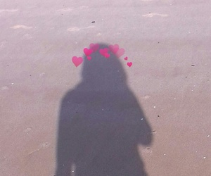 alternative, beach, and heart image
