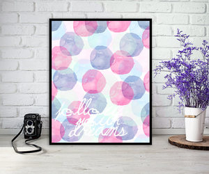 colorful, interior, and wall decor image