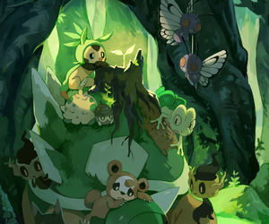 pokemon, butterfree, and teddiursa image