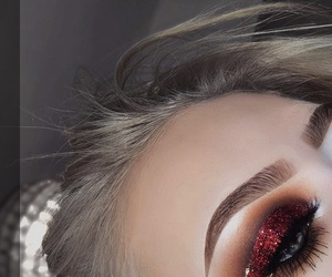 makeup, red, and style image