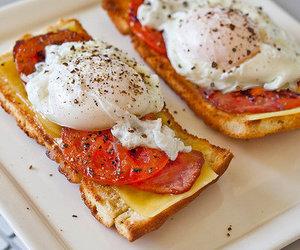 food, eggs, and breakfast image