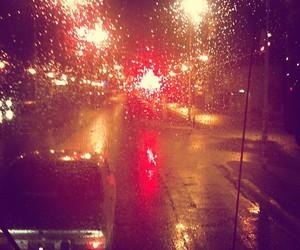 city, rain, and cars image