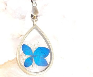 flower necklace, handmade, and jewelry image