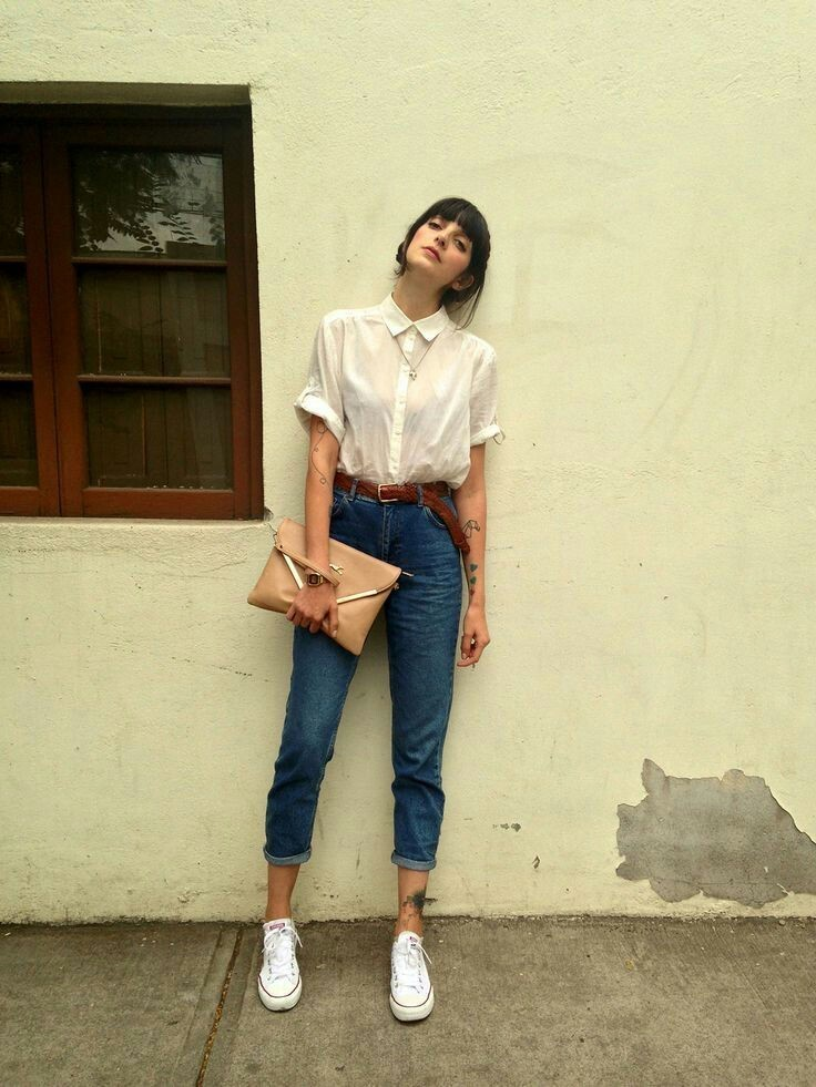 button up, white, and fashion image