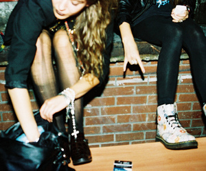 blonde, doc martens, and indie image