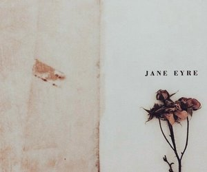 book, flowers, and jane eyre image