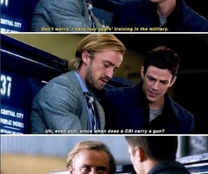 tom felton, the flash, and barry allen image