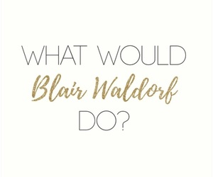 blair, gold, and gossip girl image