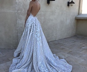 dress, wedding dress, and fashion image