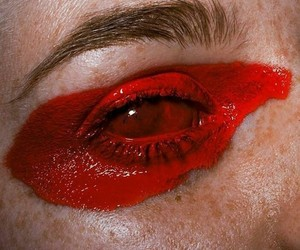 red, art, and eye image