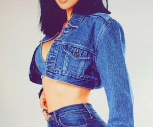 babe, denim jacket, and model image
