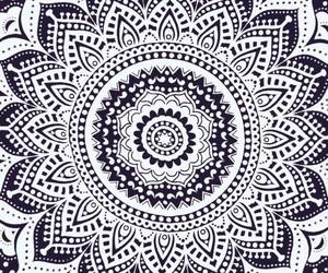 mandala, art, and black image