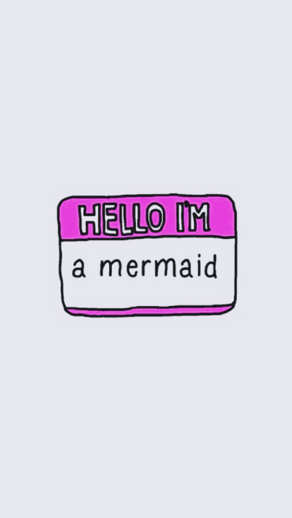 mermaid, pink, and wallpaper image